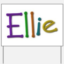 Ellie Play Clay Yard Sign