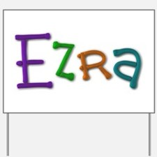 Ezra Play Clay Yard Sign