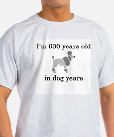 90 birthday dog years poodle T-Shirt