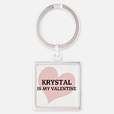 KRYSTAL Square Keychain