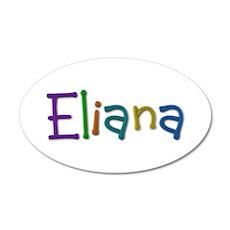 Eliana Play Clay 20x12 Oval Wall Decal