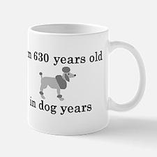 90 birthday dog years poodle 2 Small Small Mug
