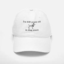 90 birthday dog years poodle 2 Baseball Baseball Baseball Cap