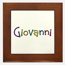 Giovanni Play Clay Framed Tile