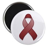 "Burgundy Awareness Ribbon 2.25"" Magnet (100 pack)"