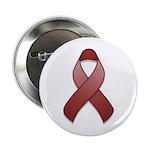 Burgundy Awareness Ribbon Button