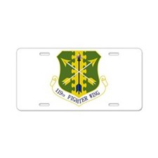 119th FW Aluminum License Plate