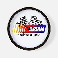 Racing - Brian Wall Clock