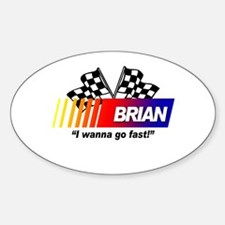 Racing - Brian Oval Decal