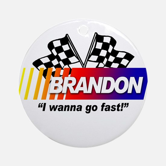 Racing - Brandon Ornament (Round)