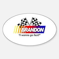 Racing - Brandon Oval Decal