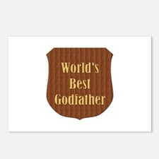 World's Best Godfather (plaque) Postcards (Package