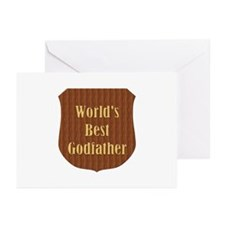 World's Best Godfather (plaque) Greeting Cards (Pa