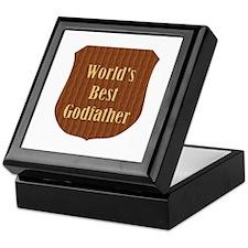 World's Best Godfather (plaque) Keepsake Box