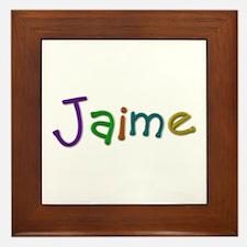 Jaime Play Clay Framed Tile