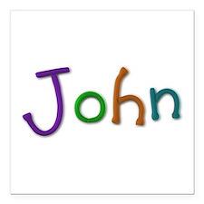 John Play Clay Square Car Magnet