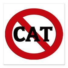 """CAT Square Car Magnet 3"""" x 3"""""""