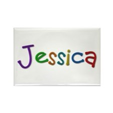 Jessica Play Clay Rectangle Magnet 100 Pack