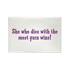 Funny Yarn Quote Rectangle Magnet