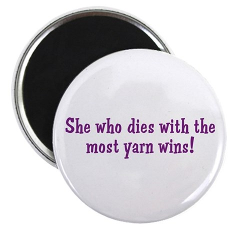Funny Yarn Quote Magnet