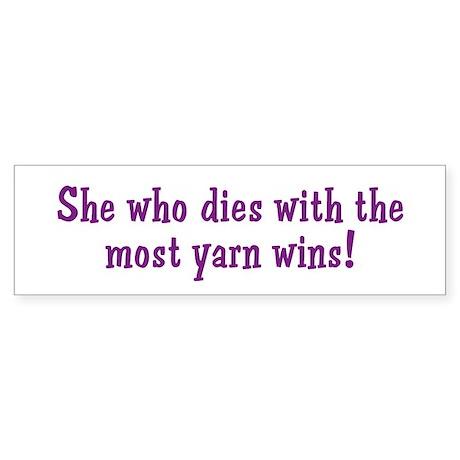 Funny Yarn Quote Bumper Sticker