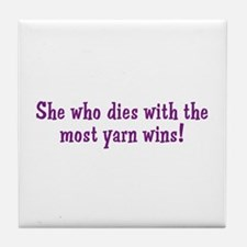 Funny Yarn Quote Tile Coaster