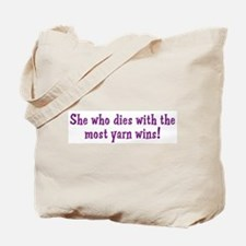 Funny Yarn Quote Tote Bag