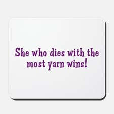 Funny Yarn Quote Mousepad