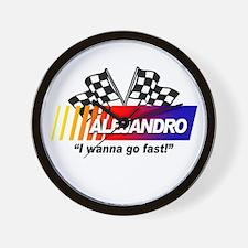 Racing - Alejandro Wall Clock