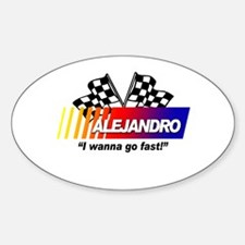 Racing - Alejandro Oval Decal