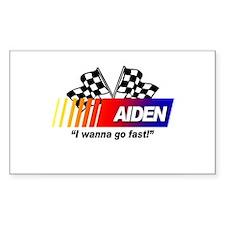 Racing - Aiden Rectangle Decal