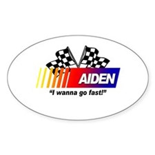 Racing - Aiden Oval Decal