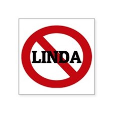 "LINDA Square Sticker 3"" x 3"""