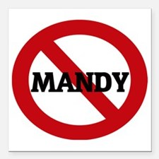 "MANDY Square Car Magnet 3"" x 3"""