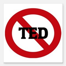 "TED Square Car Magnet 3"" x 3"""