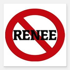 "RENEE Square Car Magnet 3"" x 3"""
