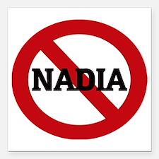 "NADIA Square Car Magnet 3"" x 3"""