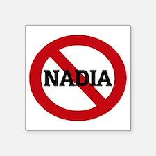 "NADIA Square Sticker 3"" x 3"""