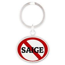 SAIGE Oval Keychain