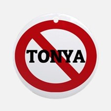 TONYA Round Ornament