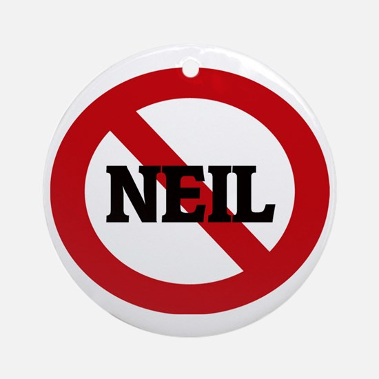 NEIL Round Ornament