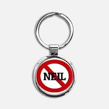 NEIL Round Keychain