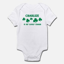 Charlize is my lucky charm Onesie