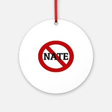 NATE Round Ornament