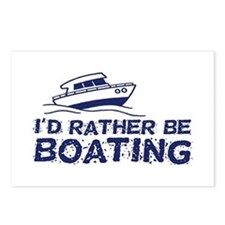I'd Rather Be Boating Postcards (Package of 8)