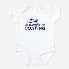 I'd Rather Be Boating Infant Bodysuit
