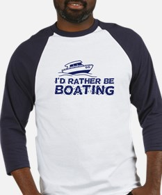 I'd Rather Be Boating Baseball Jersey