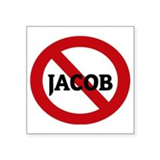"JACOB Square Sticker 3"" x 3"""