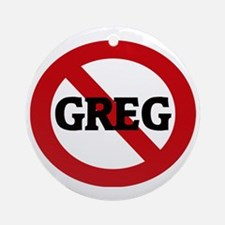 GREG Round Ornament
