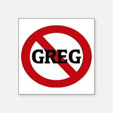 "GREG Square Sticker 3"" x 3"""